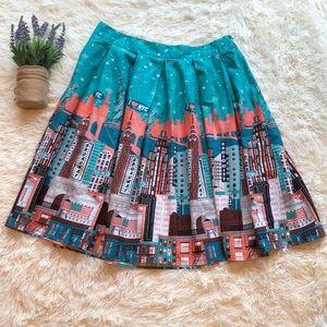 New York City Back ZIP Pleated Skirt